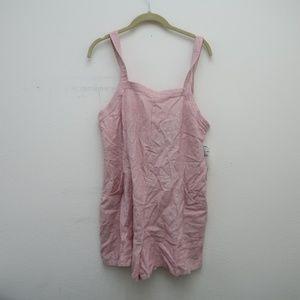 Womens Abound Pink Linen Rimper Size Medium NEW